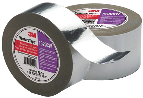 3m Venture Tape Aluminum Foil Tape 1520cw 4 X 50yd Hd Supply White Cap