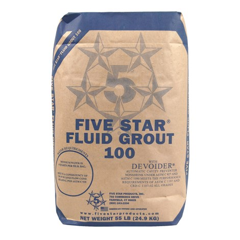 Five Star 55 lb. 5 Star Fluid Grout 100 - HD Supply White Cap